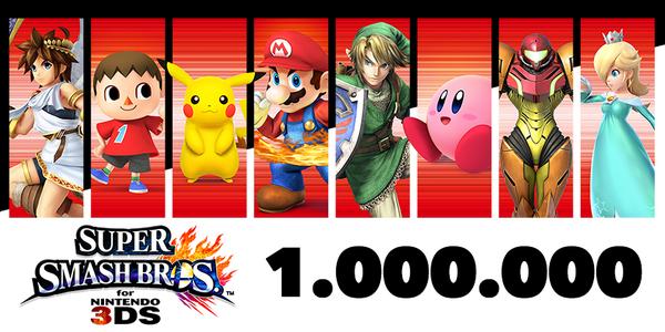 Super Smash Bros 3DS vende 1 milione di copie